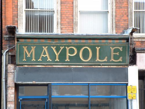 Maypole Shop Sign 2/10/04