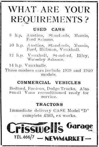 ad 1940 crisswells