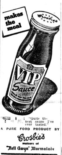 ad 1948 crosbies sauce