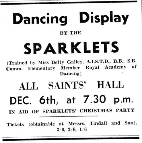ad 1948 dancing display